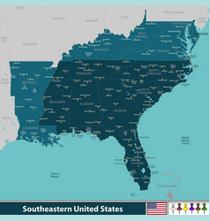 southeastern united states vector image