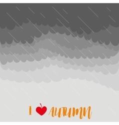 Stormy autumn sky with rain vector image
