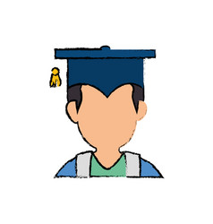 Student graduated profile vector