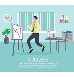 Successful business idea poster vector