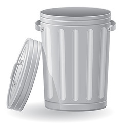 trash can 02 vector image