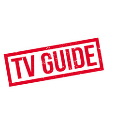 tv guide rubber stamp vector image