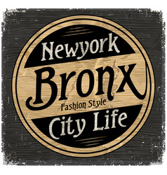 Vintage new york brooklyn typography t-shirt vector