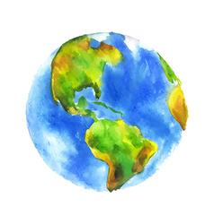 Watercolor globe vector