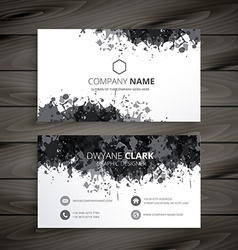 Grunge splash business card vector