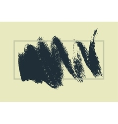 Hand drawn painting brush strokes stain vector