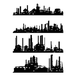 Industrial architecture vector