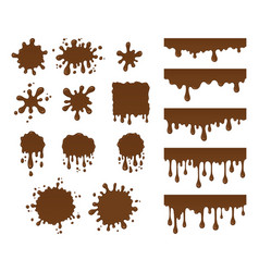 set of chocolate drops vector image