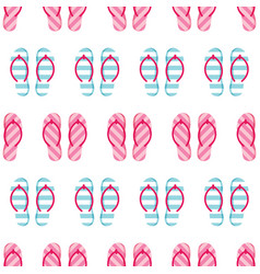 Colorful striped flip flops seamless pattern vector