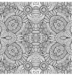 Abstract ethnic sketchy background vector