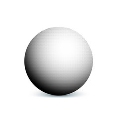 Abstract halftone minimalist ball circle with vector