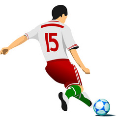 Football player colored for designers vector