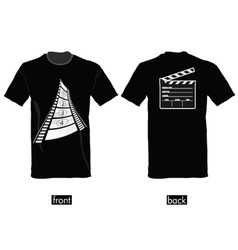 T-shirt with film tape vector