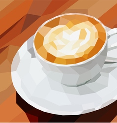 Poly cup coffee vector