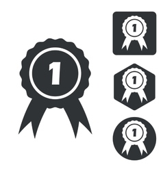 First place icon set monochrome vector