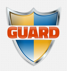 Guard icon vector