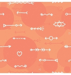 Hand drawn arrows seamless background vector