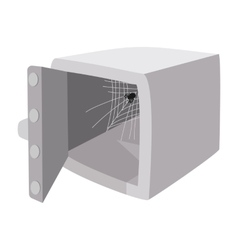 Security safe with opened door cartoon icon vector
