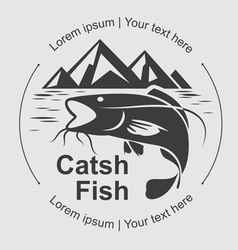 Catch fish symbol vector