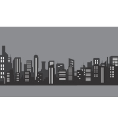 Silhouette of apartment with gray color vector