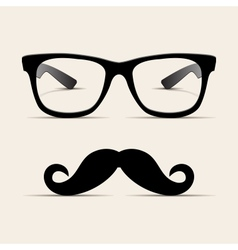 Hipster glasses Hipsta man vector image
