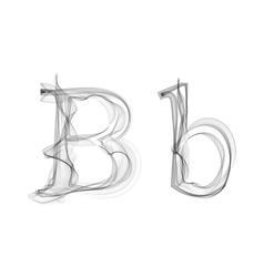 Black smoke font letter b vector
