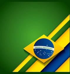 Brazil stamp design vector
