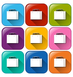 Buttons with shopping bags vector image vector image