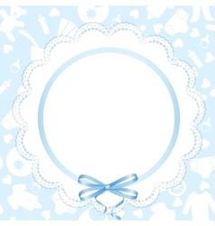 card with lace ribbon vector image vector image