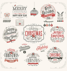christmas set - labels vector image