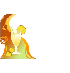 Cocktail card with ananas vector