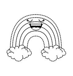 cute rainbow kawaii character vector image vector image