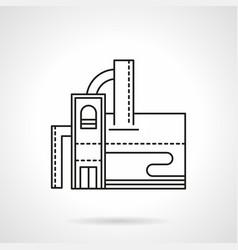 Distillery building flat line icon vector