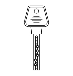 Door key isolated on white background flat icon vector