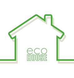 Eco house vector