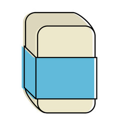 eraser school isolated icon vector image