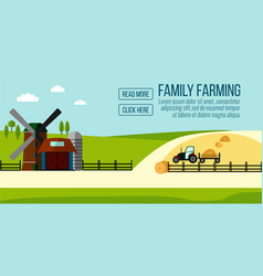 Famaly farming banner vector