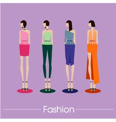 Fashion color set design vector image vector image