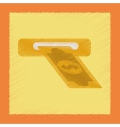 flat shading style icon dollar money vector image