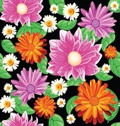 flower bouqet pattern vector image vector image