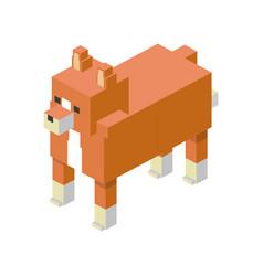 Fox modular animal plastic lego toy blocks and vector