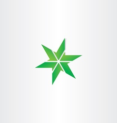 green icon star design element vector image