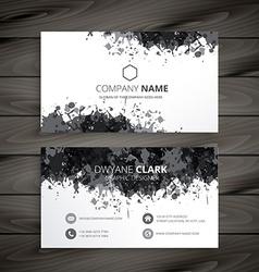 Grunge splash business card vector