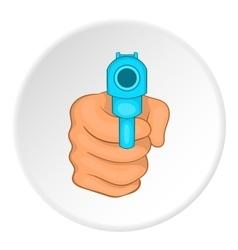 Gun icon flat style vector image