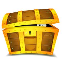 hiding inside treasure chest vector image