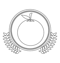 Monochrome silhouette circle with decorative olive vector