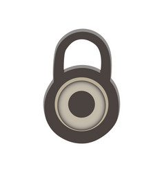 Padlock icon lock isolated symbol sign security vector