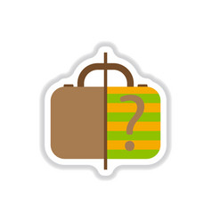 paper sticker on white background x-ray baggage vector image vector image