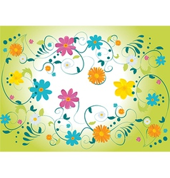 Set of floral icons vector image vector image