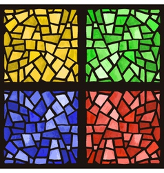 stained glass windows set vector image